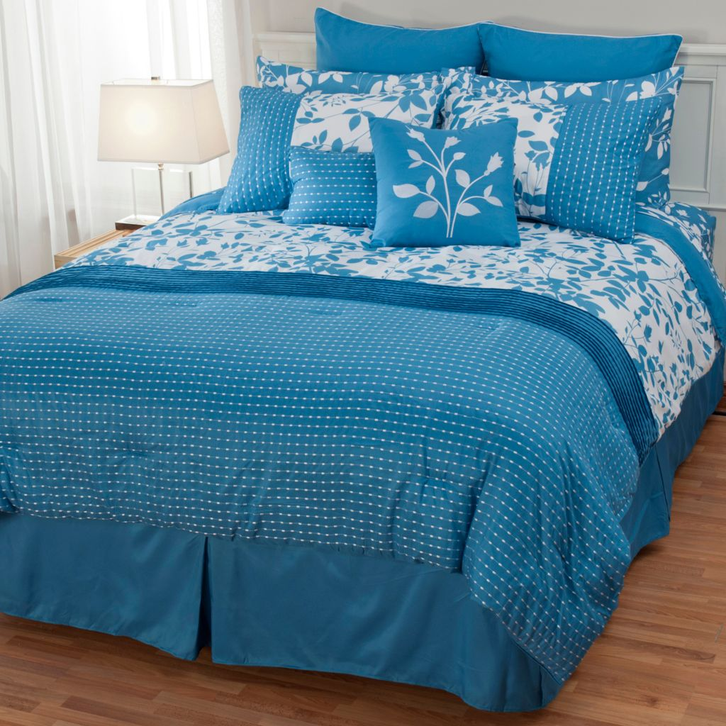 440-195 - North Shore Linens™ Leaf & Vine 12-Piece Bedding Ensemble