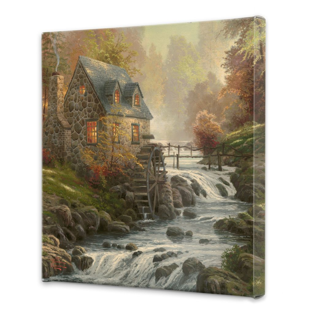 "440-267 - Thomas Kinkade ""Cobblestone Mill"" 20"" x 20"" Gallery Wrap"