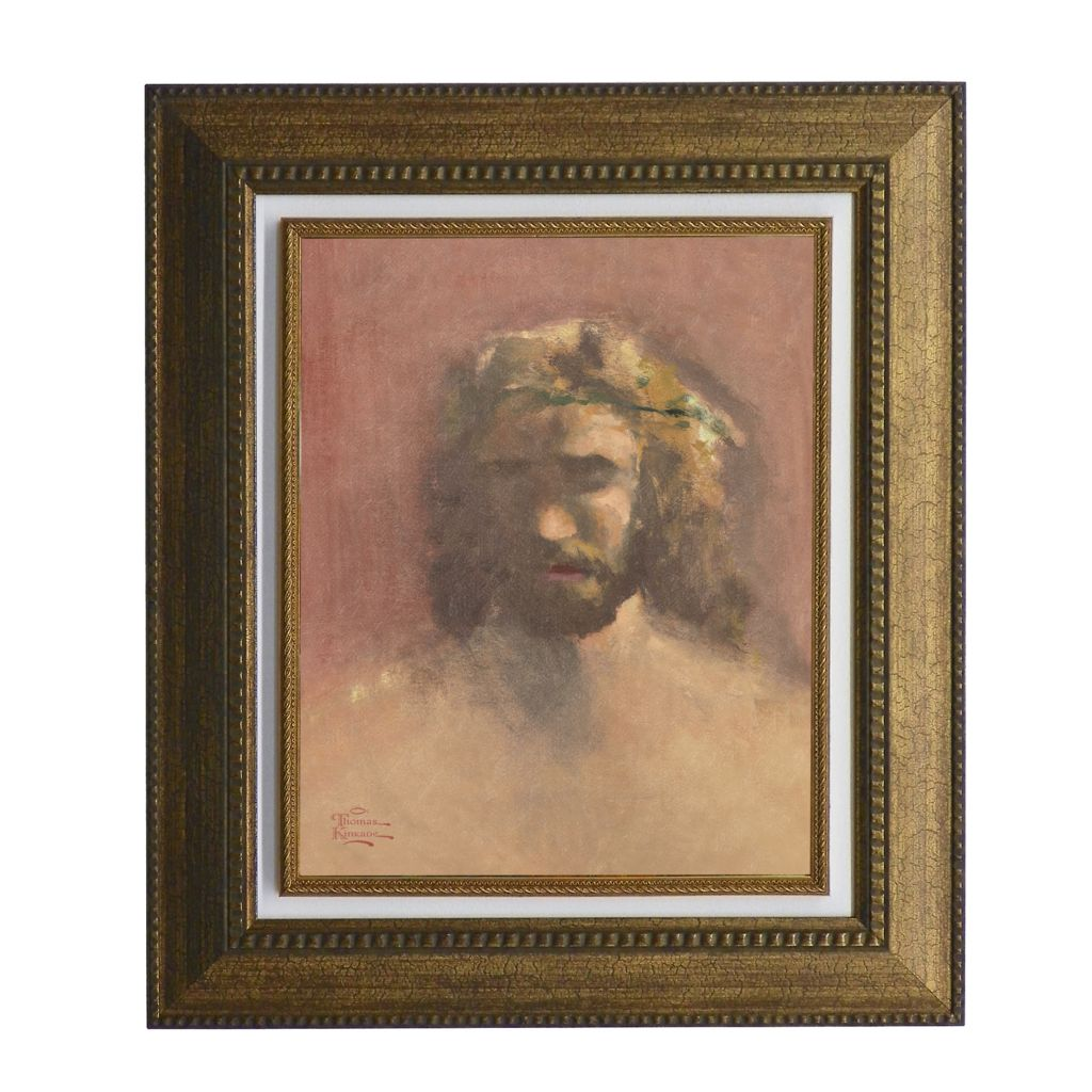 "440-269 - Thomas Kinkade ""Prince of Peace"" Framed Textured Print"