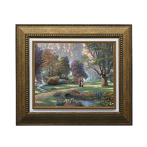 440-270 - Thomas Kinkade ''Walk of Faith'' Framed Textured Print