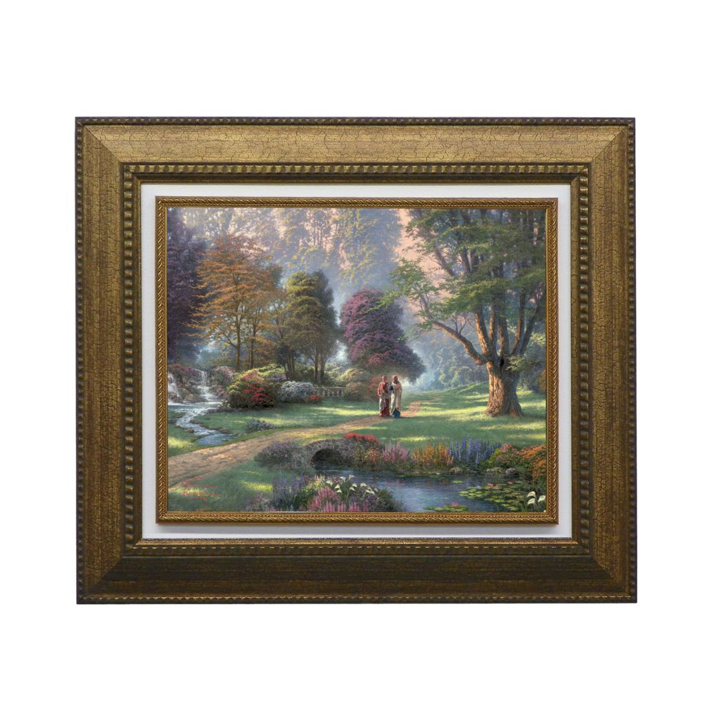 "440-270 - Thomas Kinkade ""Walk of Faith"" Framed Textured Print"