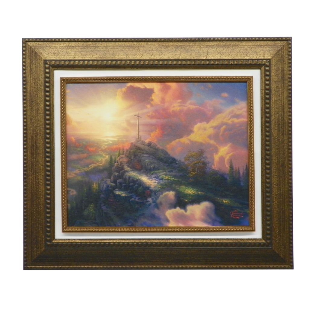 "440-271 - Thomas Kinkade ""The Cross"" Framed Textured Print"
