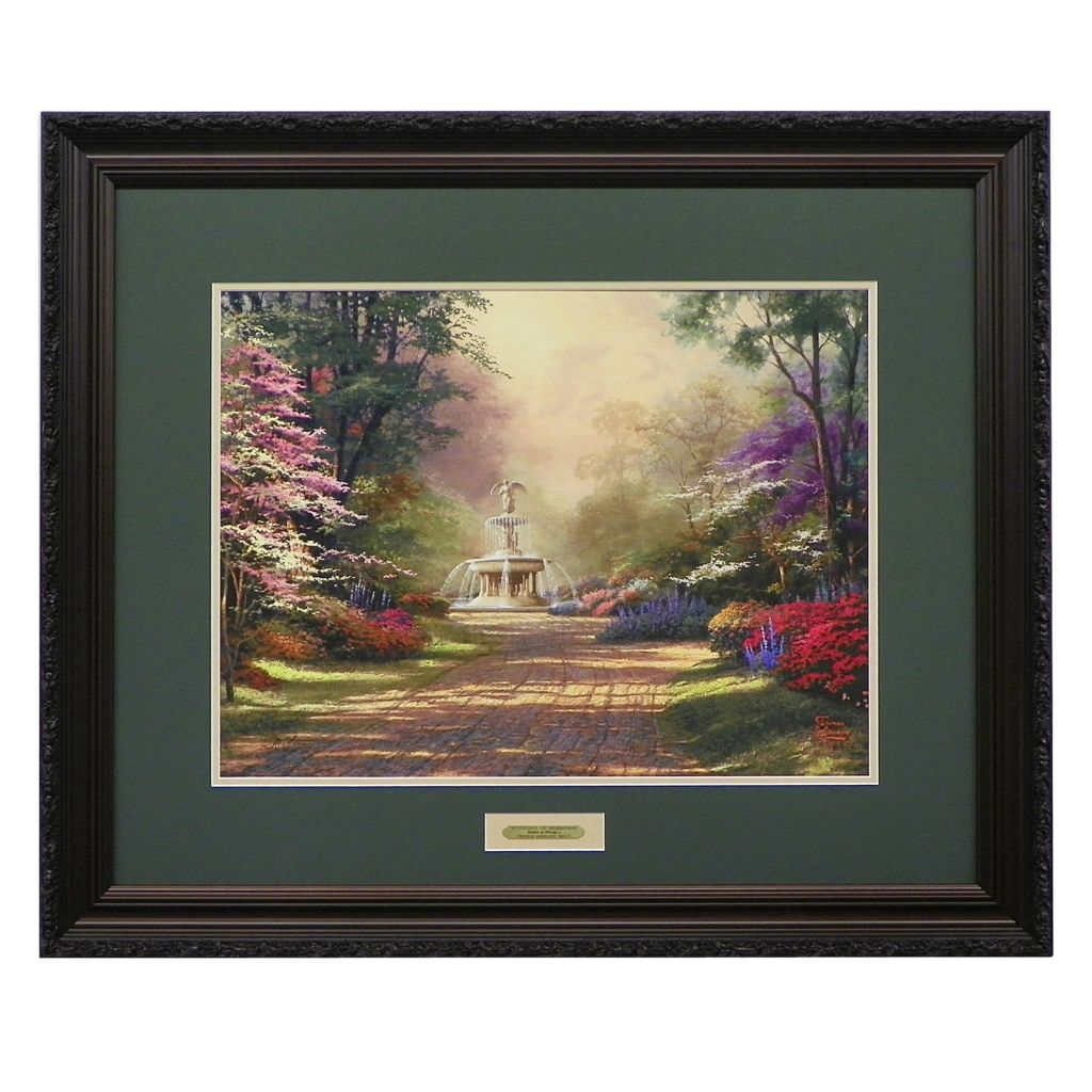 "440-277 - Thomas Kinkade ""Fountains of Blessings"" Limited Edition Framed Print"