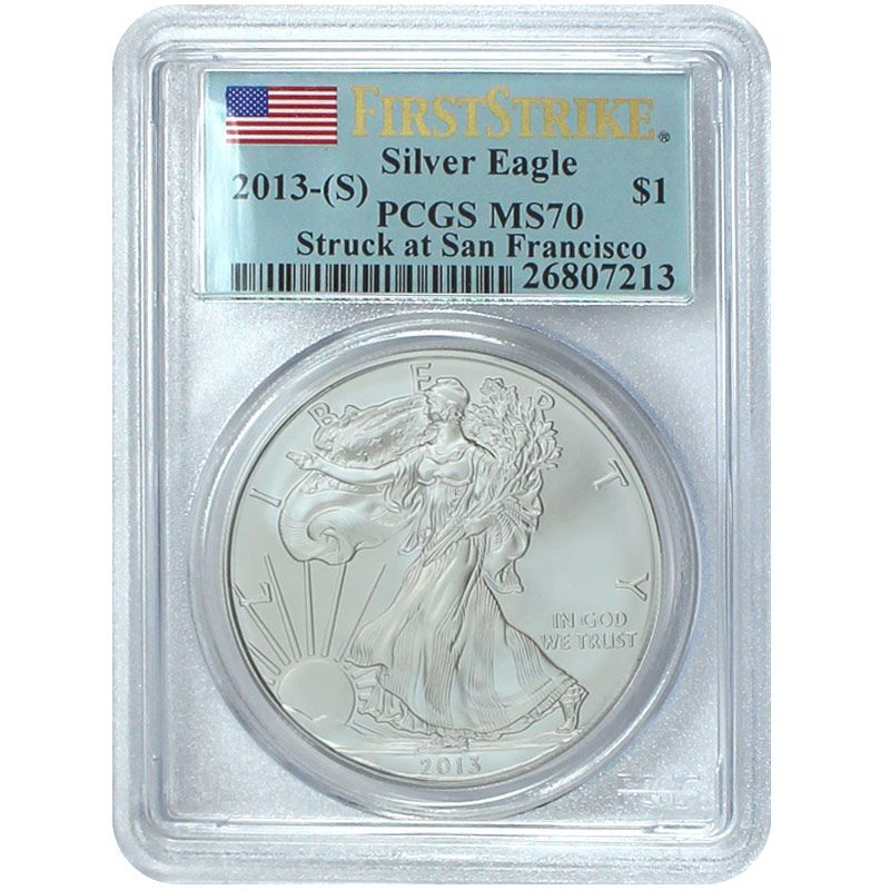440-310 -  2012 & 2013 Silver Struck at San Francisco MS70 PCGS (S) Two-Piece Coin Set