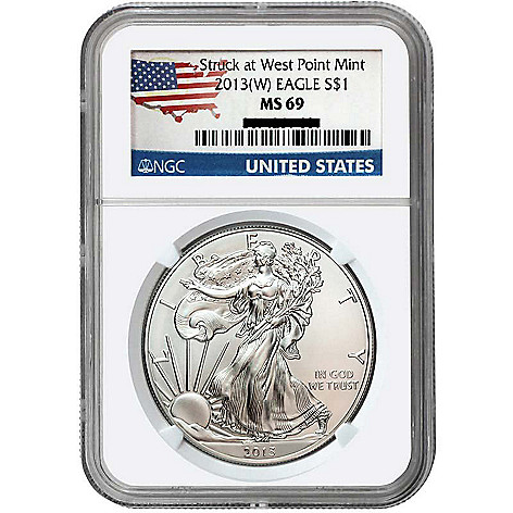 440-311 - 2013 Silver American Eagle MS69 NGC Coin