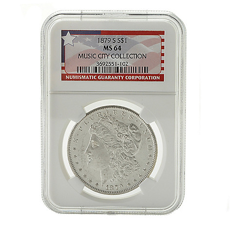 440-356 - 1879 Silver Music City Hoard MS64 NGC (S) Morgan Coin