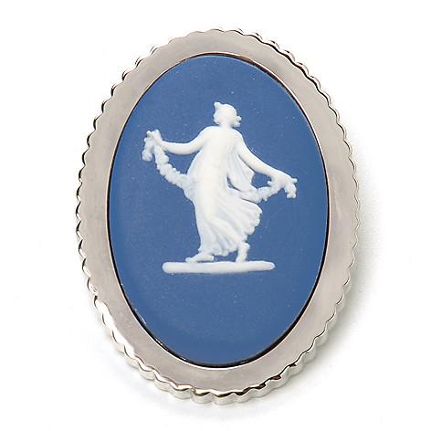 440-400 - Wedgwood® Saxon 1.75'' Jasperware Brooch