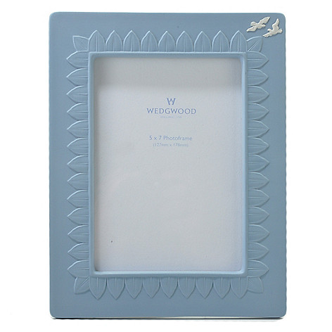 440-404 - Wedgwood® 5'' x 7'' Jasperware Blue Frame - Signed by Lord Wedgwood