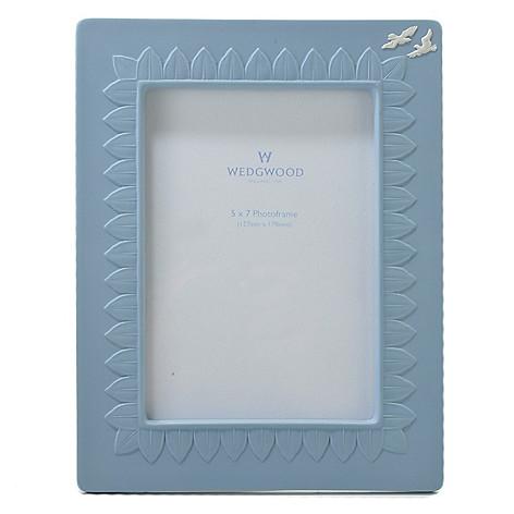 440-404 - Wedgwood® 5'' x 7'' Jasperware Blue Frame - Signed by Lord Wedgwood