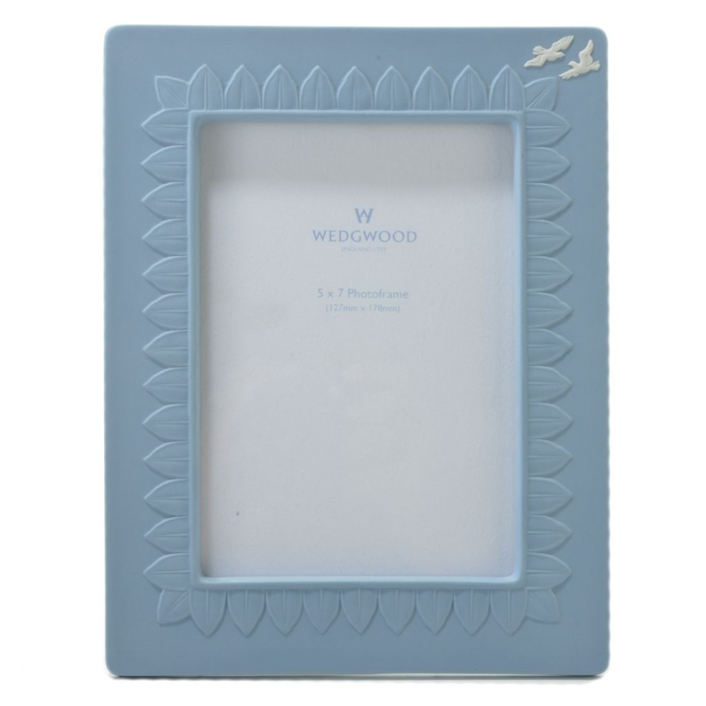 "440-404 - Wedgwood® 5"" x 7"" Jasperware Blue Frame - Signed by Lord Wedgwood"