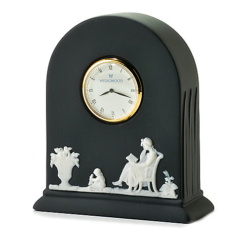 440-407 - Wedgwood® 4.25'' Jasperware Quartz Block Clock