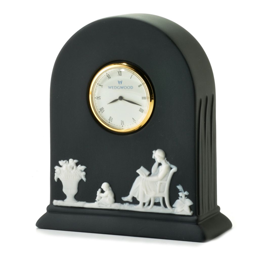 "440-407 - Wedgwood® 4.25"" Jasperware Quartz Block Clock"