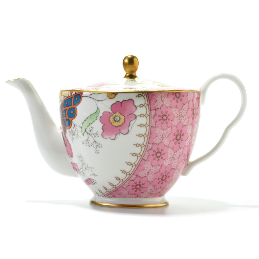 "440-408 - Wedgwood® Butterfly Bloom 4.5"" Jasperware Teapot w/ Cover"