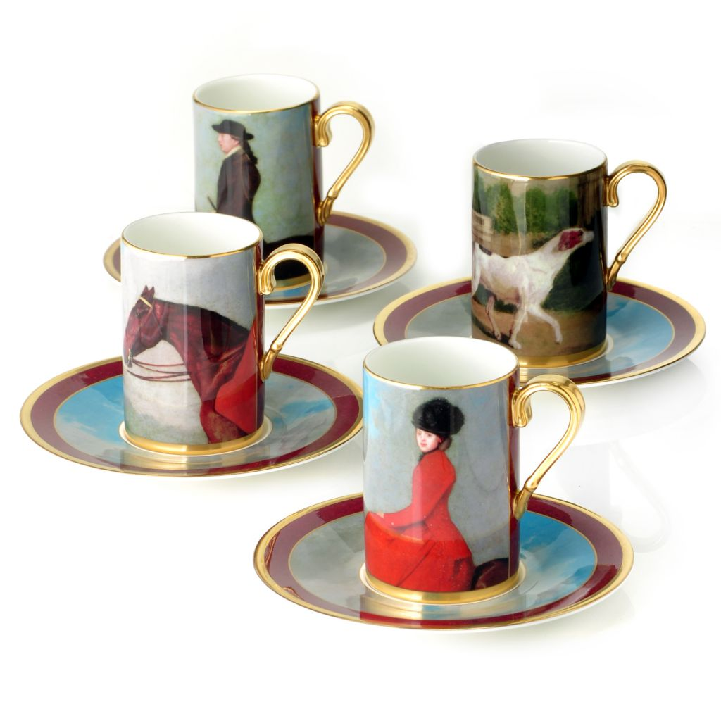 440-421 - Wedgwood® Equestria Set of Four Bone China Cup & Saucer