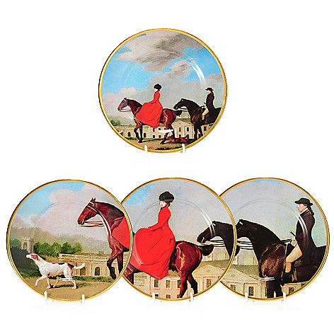 440-422 - Wedgwood® Equestria Set of Four 8'' Bone China Plates