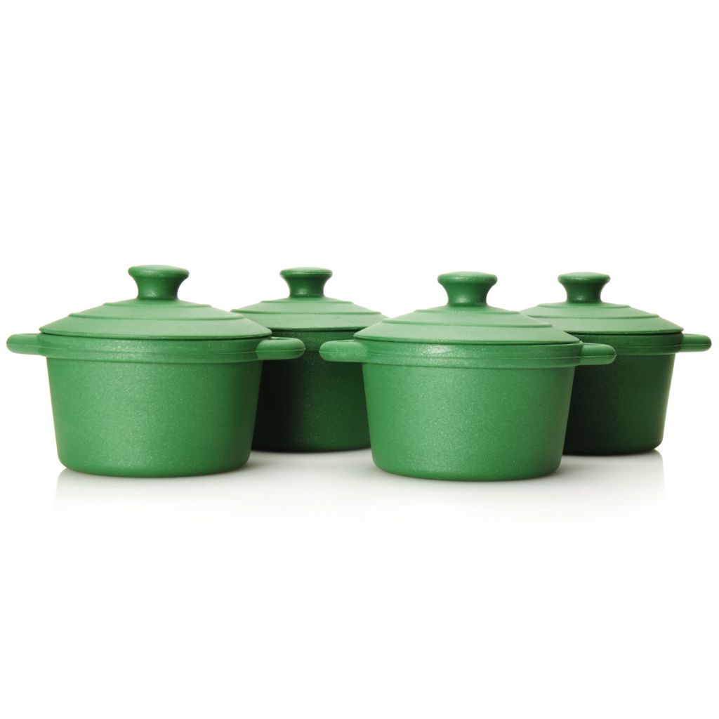 440-446 - Cook's Tradition™ Set of Four 8 oz Silicone Cocottes w/ Lids