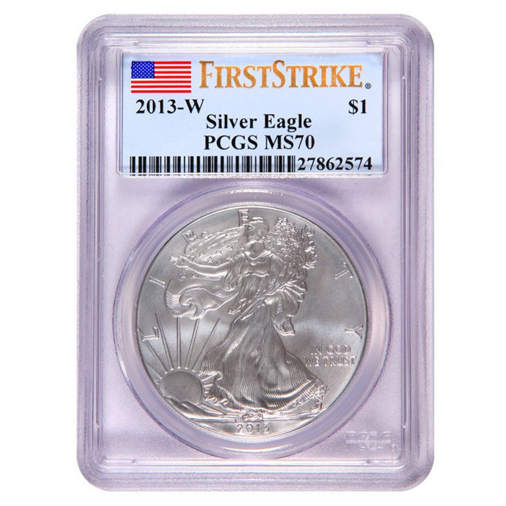 440-452 - 2013 Silver American Eagle MS70 Burnished PCGS (W) Coin