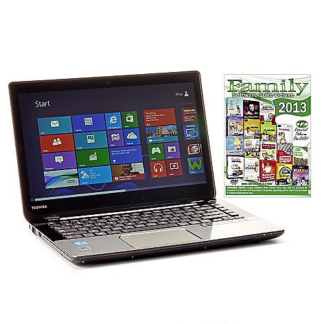 440-453 - Toshiba 14'' Touch Screen Dual-Core i3 6GB RAM/750GB HD Notebook w/ Software