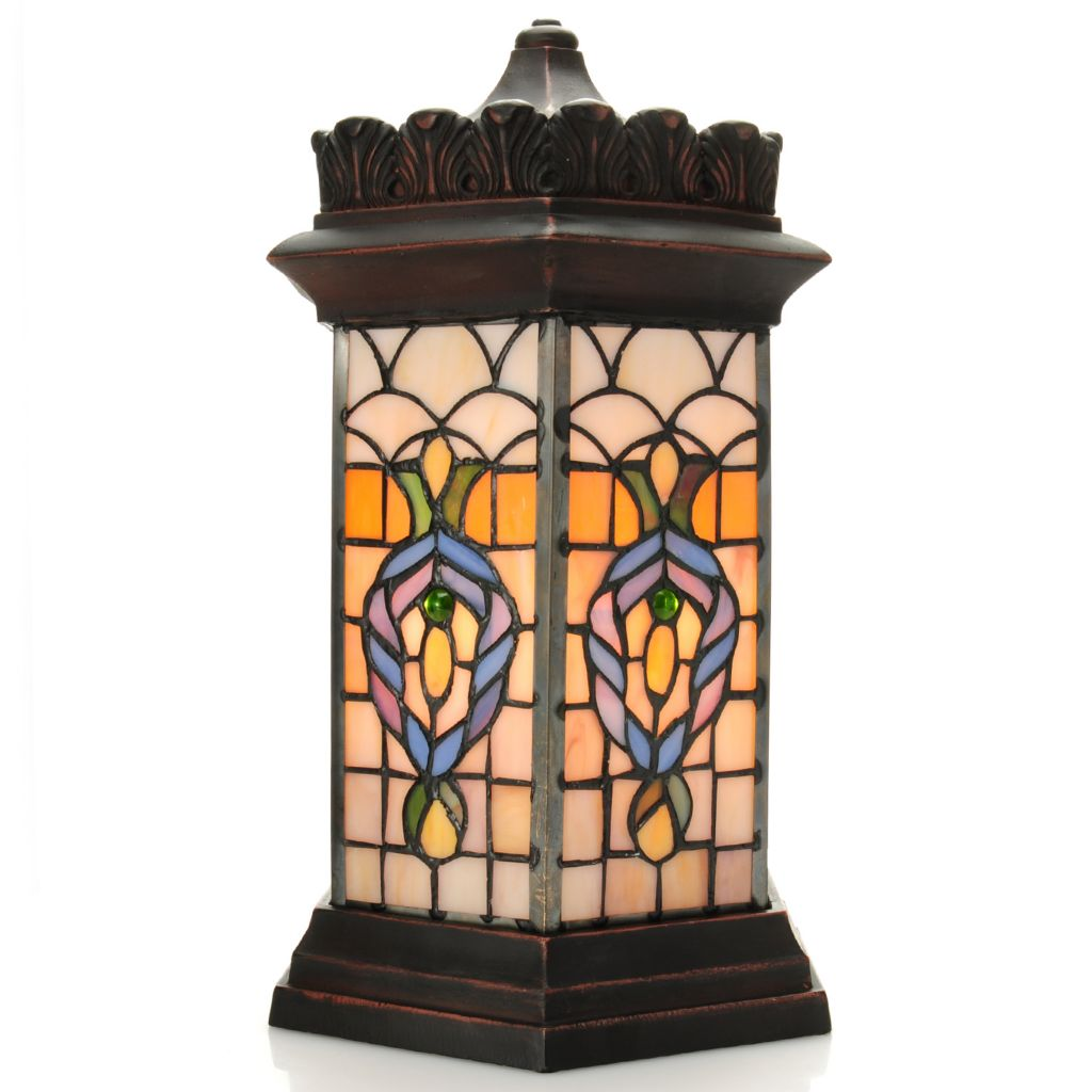 "440-459 - Tiffany-Style 15"" Lighthouse Stained Glass Accent Lamp"