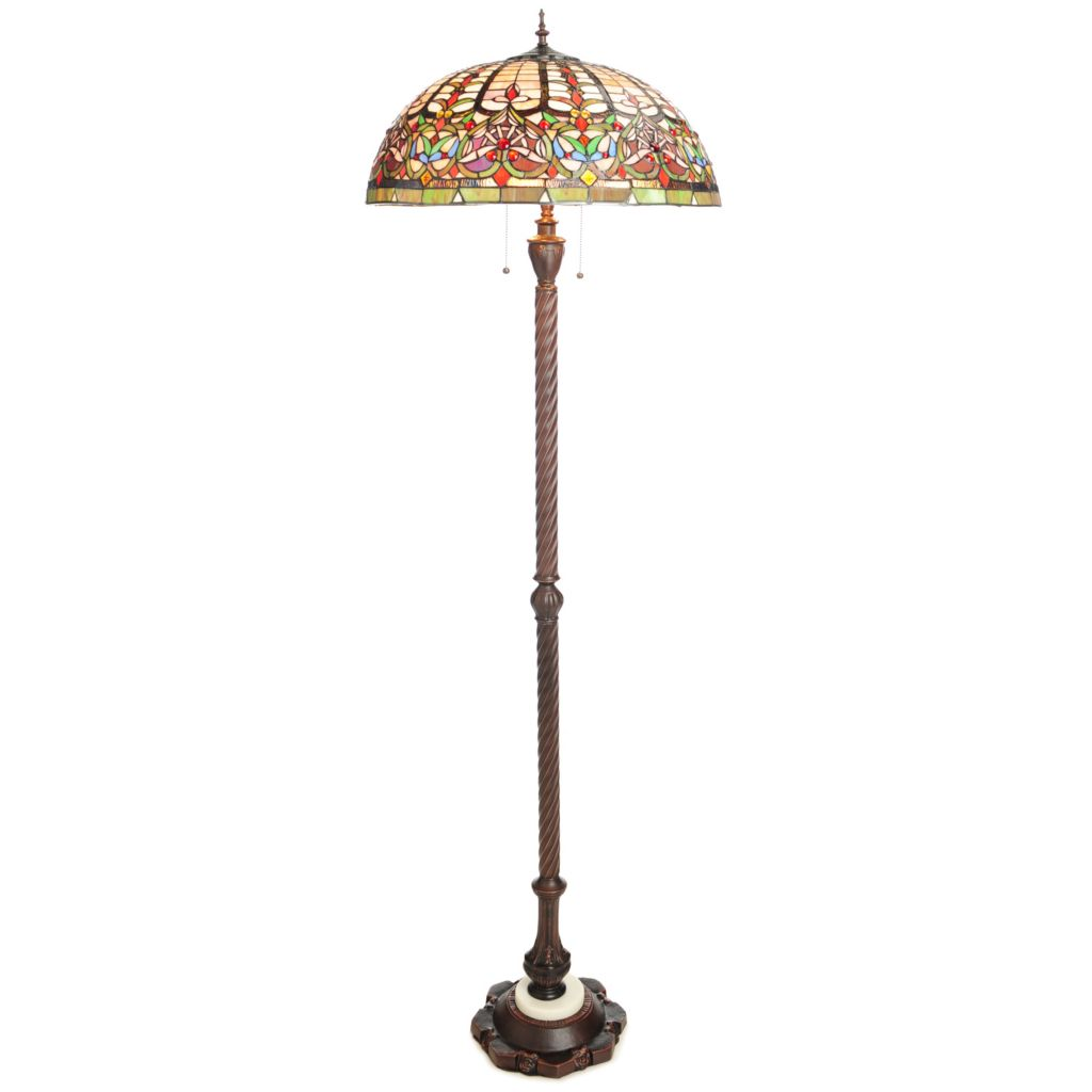 "440-463 - Tiffany-Style 68"" Classica Stained Glass Floor Lamp"