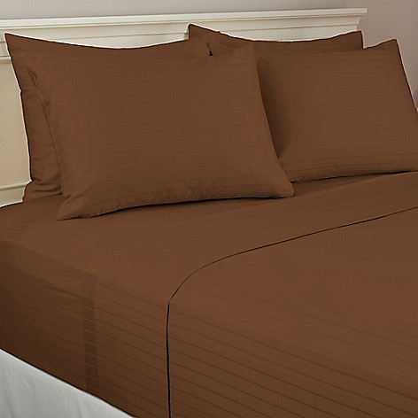 440-482 - North Shore Living™ 800TC Egyptian Cotton SureSoft® Striped Six-Piece Sheet Set