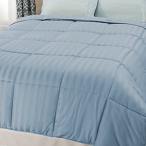 440-485 - Cozelle® 600TC Cotton/Poly Blend Easy Care Damask Down Alternative Striped Comforter
