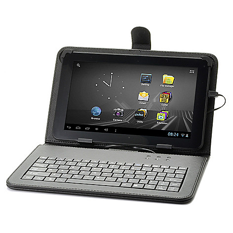 440-491 - D2 Pad™ Google Certified Android™ 4.1 4GB Wi-Fi Tablet w/ Keyboard Case