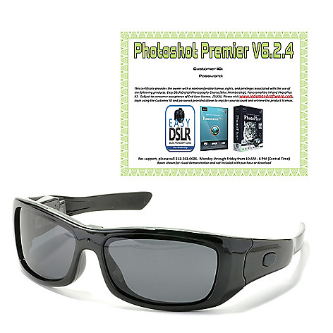 440-499 - VidVision Polarized Sport Sunglasses w/ Built-in 720p HD Video Recording