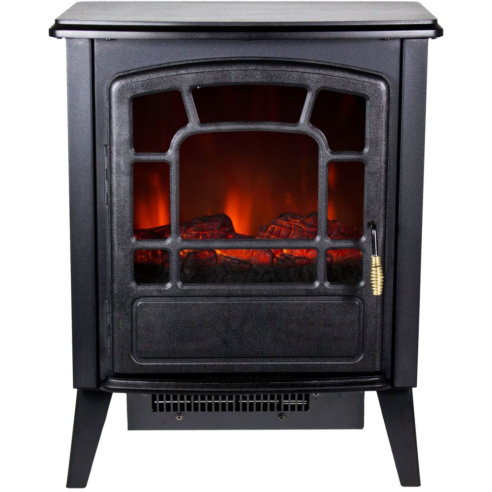 440-509 - Frigidaire Bern Retro-Style Floor Standing Electric Fireplace