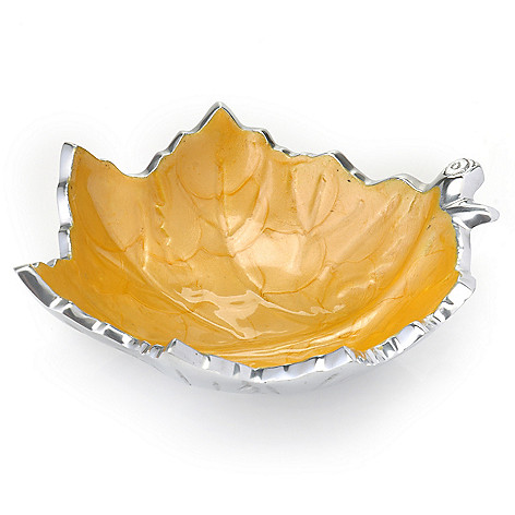 440-574 - Julia Knight® Grape Leaf Aluminum & Enamel Handmade Bowl