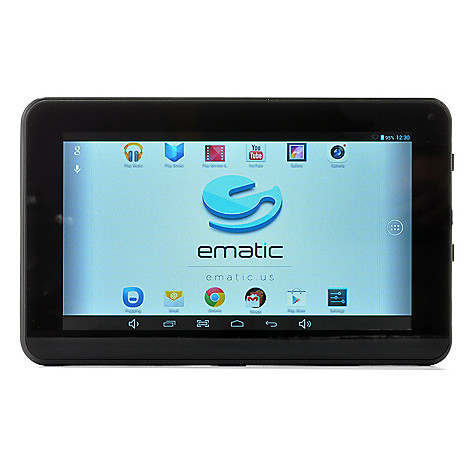 440-599 - Ematic 7'' LCD Google Certified Android™ 4.2 8GB Quad-Core Wi-Fi Tablet