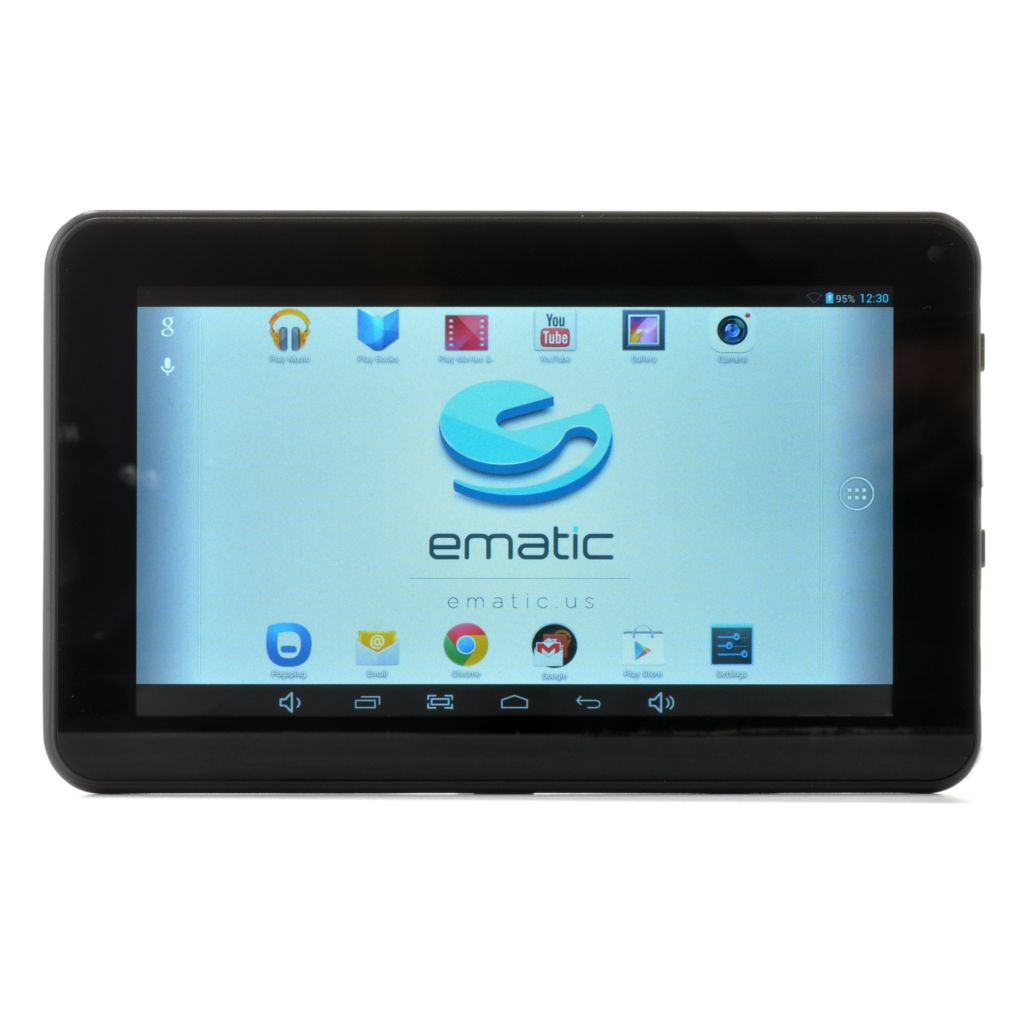 "440-599 - Ematic 7"" LCD Google Certified Android™ 4.2 8GB Quad-Core Wi-Fi Tablet"