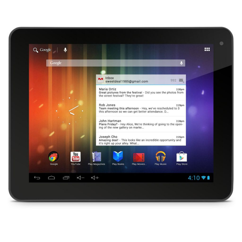 "440-601 - 8"" HD Android™ 4.1 Google Certified 8GB Dual-Core Wi-Fi Tablet w/ Bluetooth"