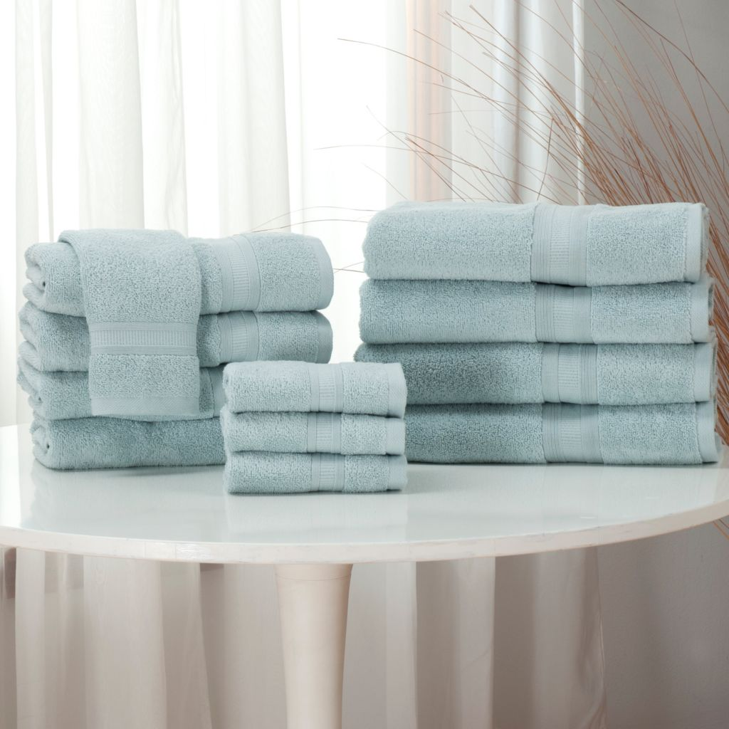 440-659 - Cozelle® 12-Piece Ultra-Absorbent 100% Cotton Towel Set