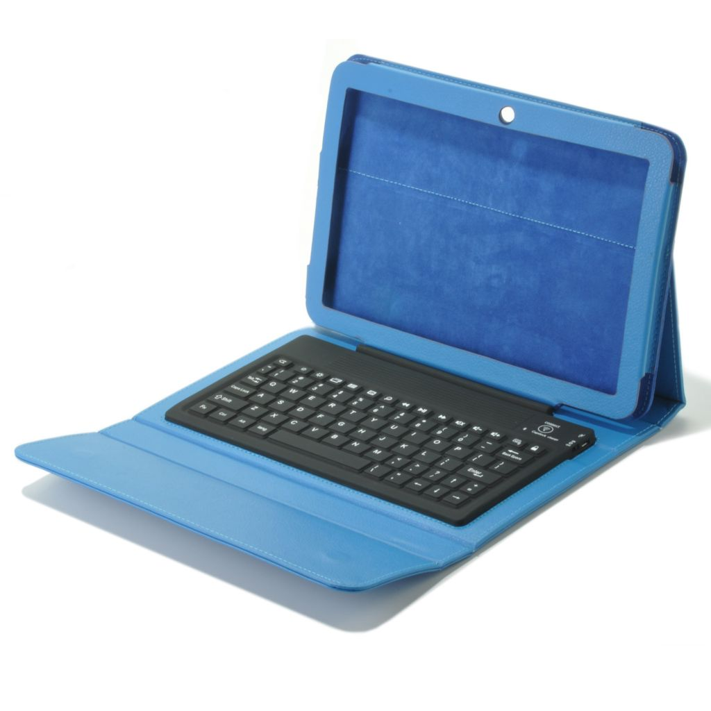"440-663 - D2® 10"" Platinum Bluetooth® Tablet Keyboard Case w/ Mini USB Port"
