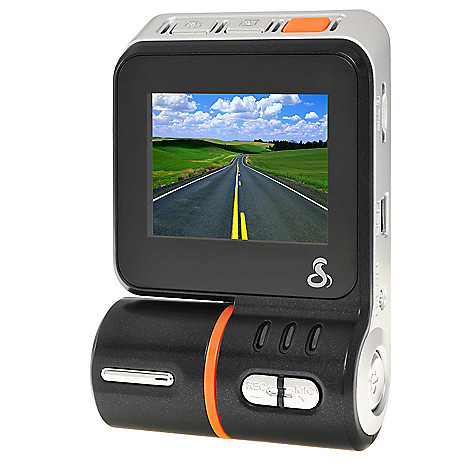 440-664 - Cobra® HD Dash Cam Continuous Loop Day/Night 1080p Video Camera w/ 8GB MicroSD Card