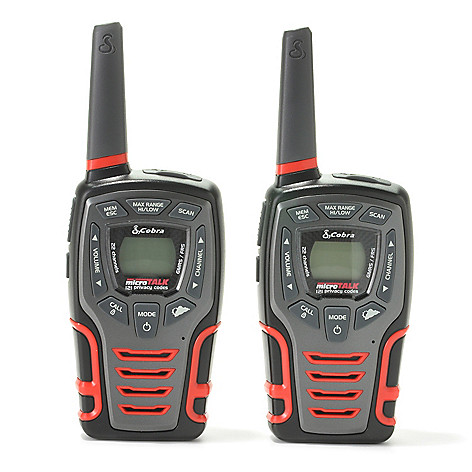 440-665 - Cobra® Set of Two 28-Mile 22-Channel Walkie Talkies w/ Built-in LED Light