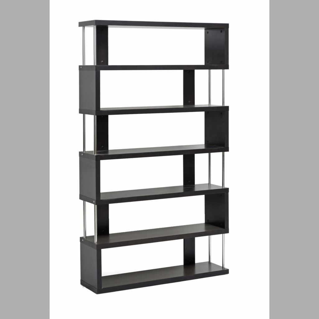 440-691 - Baxton Studio Barnes Dark Brown Six-Shelf Modern Bookcase