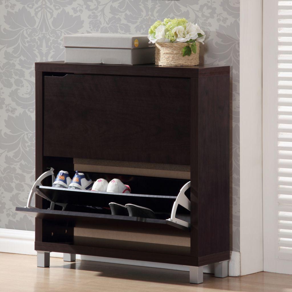 440-692 - Baxton Studio Simms Modern Shoe Cabinet