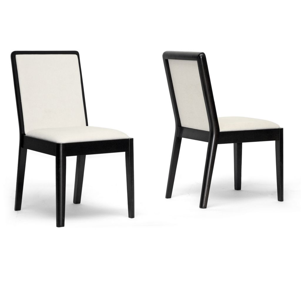 440-699 - Baxton Studio Maeve Dark Brown & Cream Modern Dining Chair - Set of Two