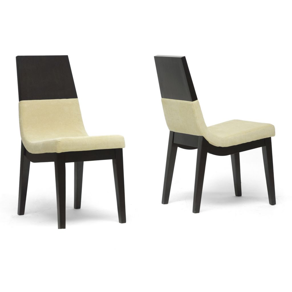 440-700 - Baxton Studio Prezna Dark Brown & Beige Modern Dining Chair - Set of Two