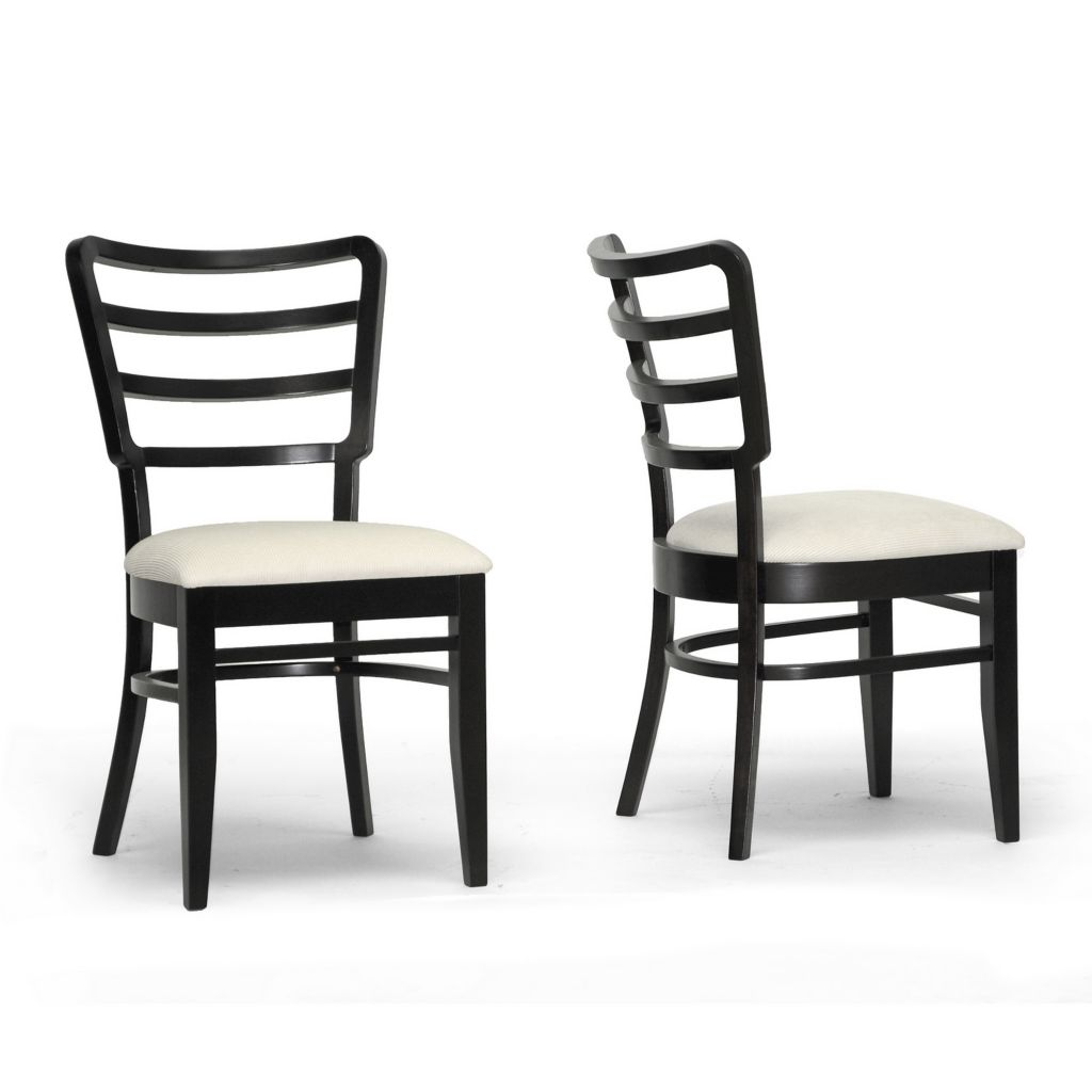 440-701 - Baxton Studio Coventa Dark Brown & Cream Modern Dining Chair - Set of Two