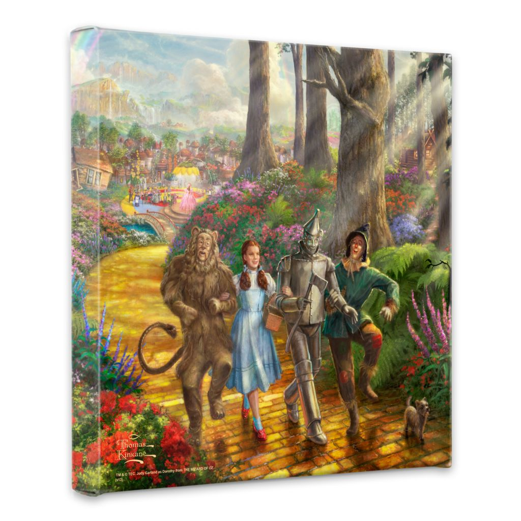 "440-714 - Thomas Kinkade ""Follow the Yellow Brick Road"" 14"" x 14"" Gallery Wrap"
