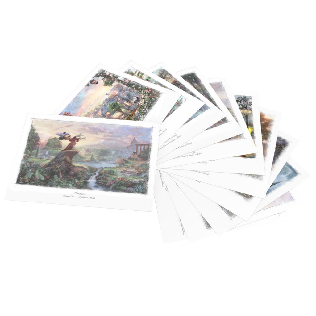 "440-724 - Thomas Kinkade Disney Dreams Set of 12 11"" x 14"" Sketches"