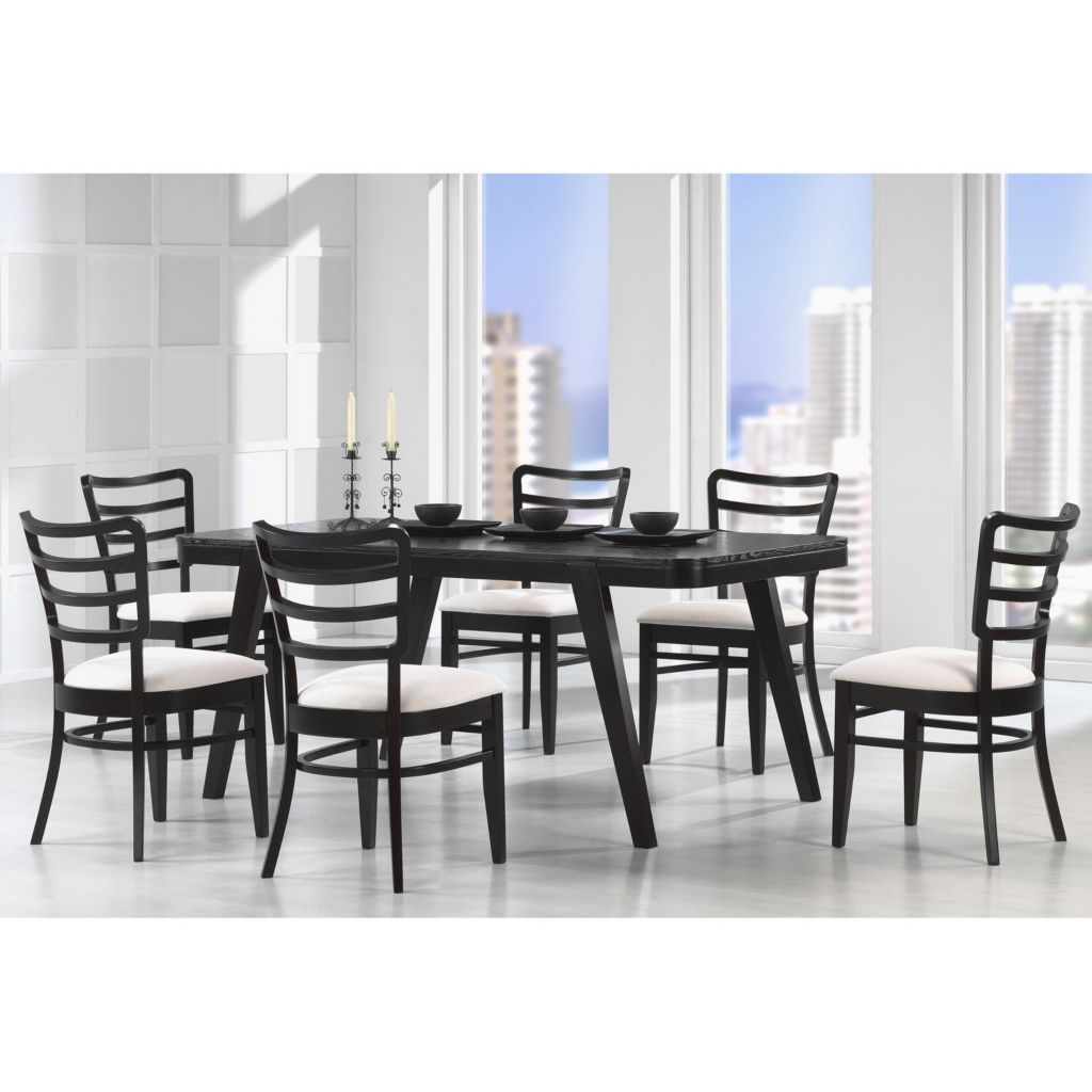 440-741 - Baxton Studio Coventa Dark Brown Modern Dining Set - Seven Piece Set