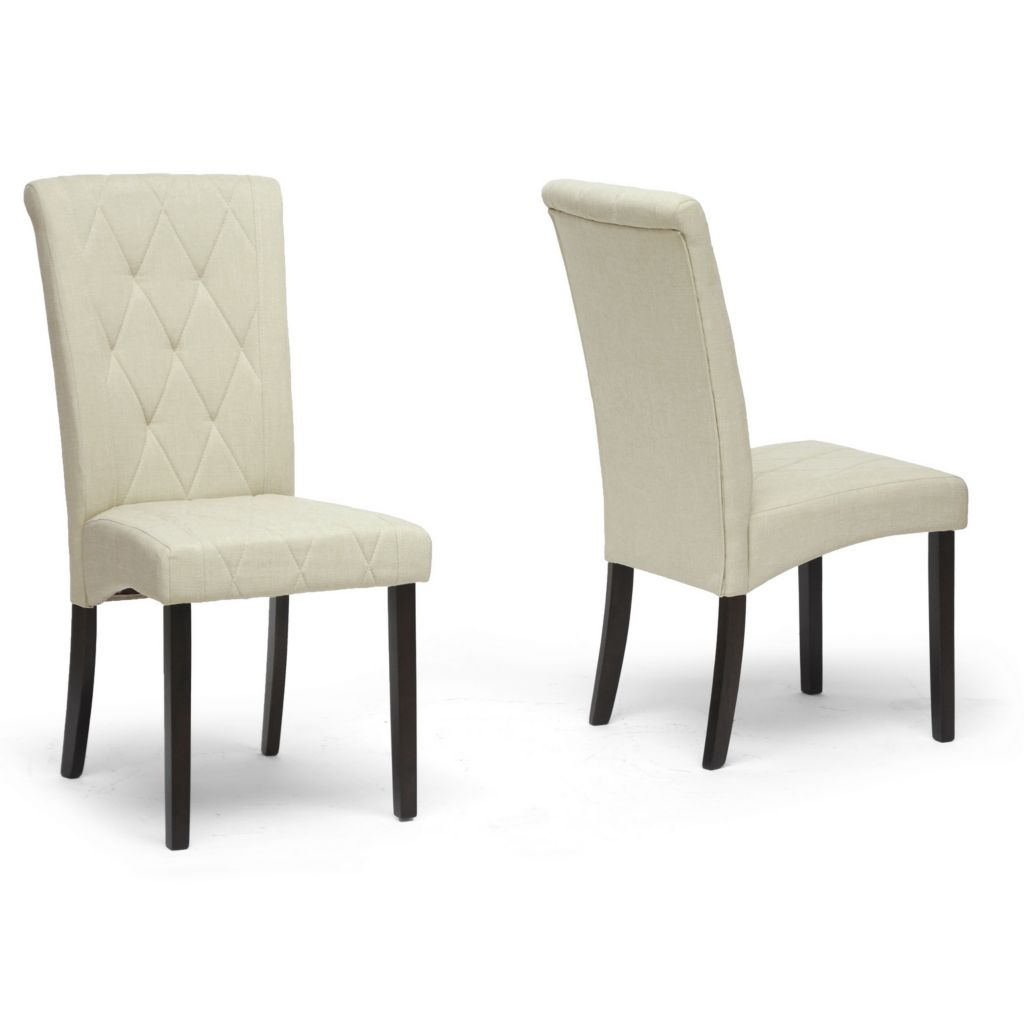 440-742 - Baxton Studio Alinia Beige Modern Dining Chair - Set of Two