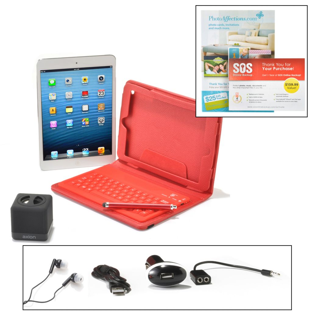 "440-743 - Apple® iPad® Mini 7.9"" LED 16GB iOS Wi-Fi Tablet w/ Bluetooth® & Accessories"