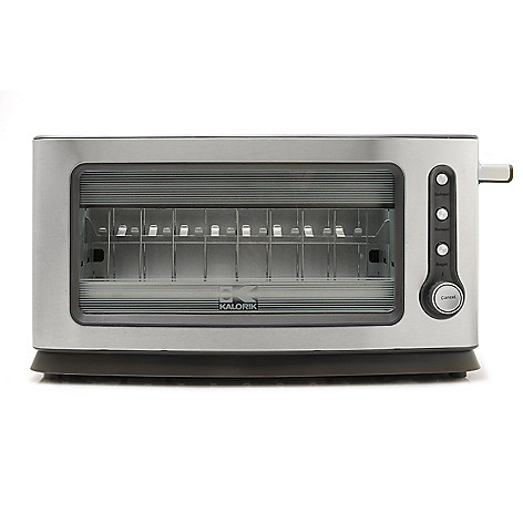 440-757 - Kalorik 900W Stainless Steel & Glass Toaster