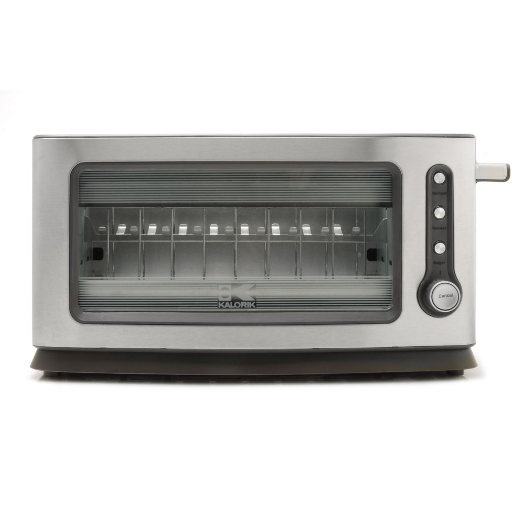 440-757 - Kalorik® 900W Stainless Steel & Glass Toaster