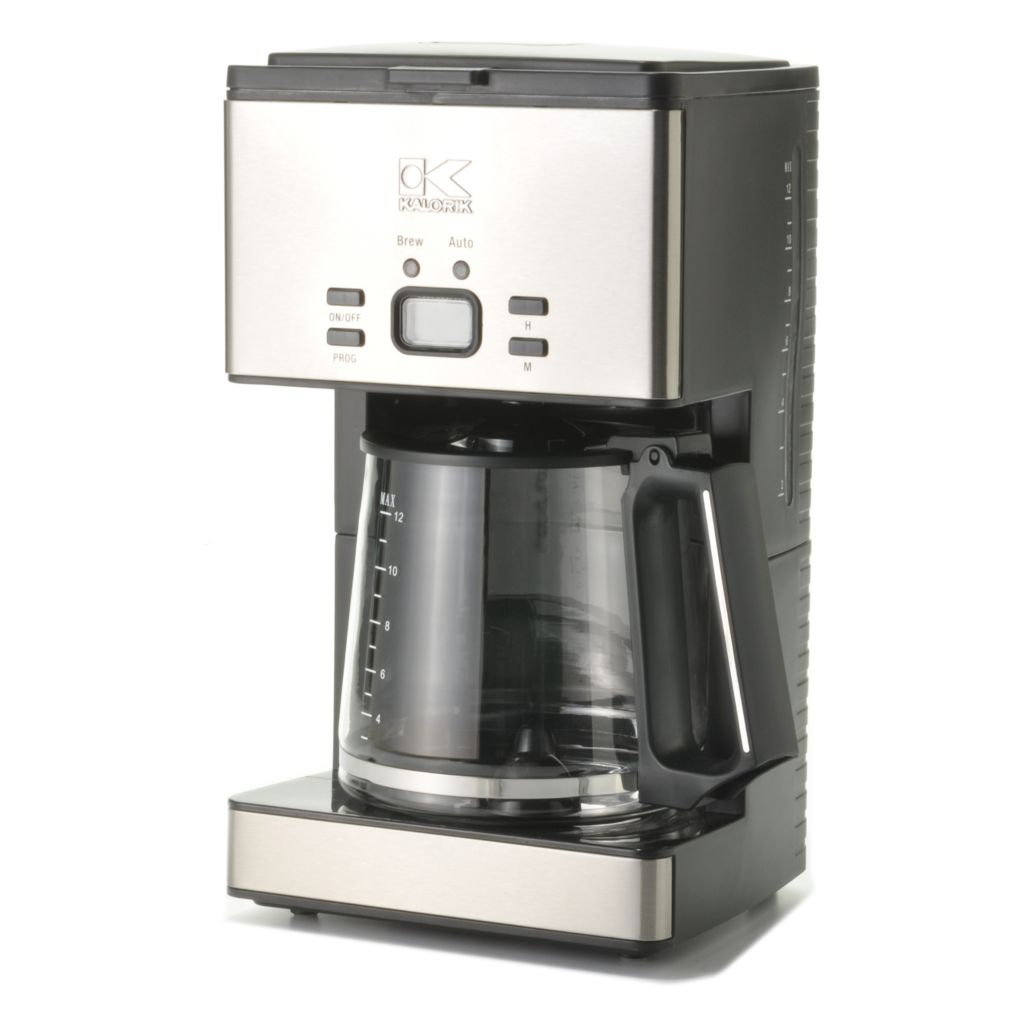 440-759 - Kalorik® 1000W 12-Cup Programmable Coffee Maker w/ Reusable Filter